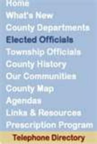 Elected Officials on blue background in dark blue font